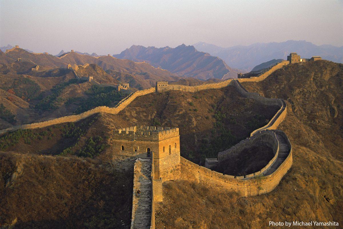 Jinshanling Wall in late afternoon.